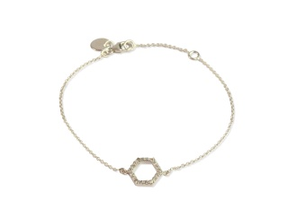 STRICT SPARKLING HEXAGON BRACELET SILVER
