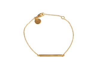 STRICT SIMPLE LINE BRACELET GOLD