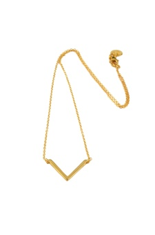STRICT SIMPLE V NECKLACE, GOLD