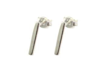 STRICT SIMPLE BAR EARRING SILVER