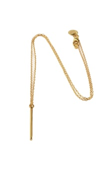 STRICT SIMPLE BAR NECKLACE, GOLD