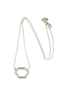 STRICT SIMPLE HEXAGON NECKLACE SILVER