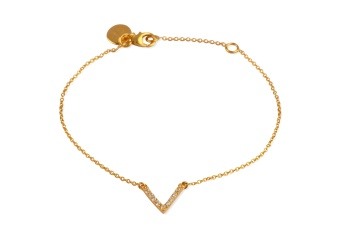 STRICT SPARKLING V BRACELET GOLD