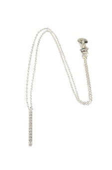 STRICT SPARKLING BAR NECKLACE SILVER