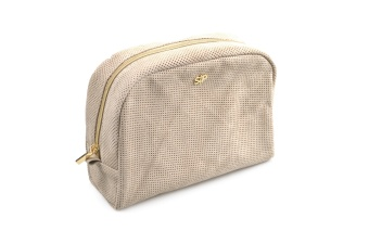SUEDE BIG TOILETRY BAG BEIGE