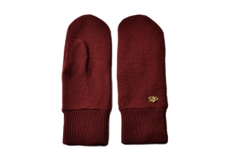 THESS MITTEN BURGUNDY