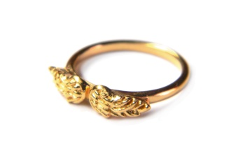 TINY ANGEL RING GOLD