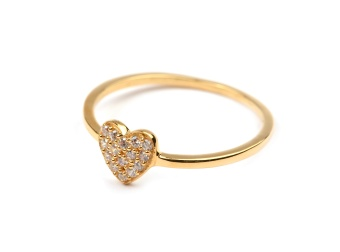 TINY HEART RING GOLD
