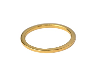 TINY PLAIN RING GOLD