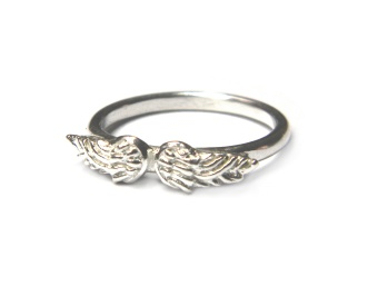 TINY ANGEL RING SILVER