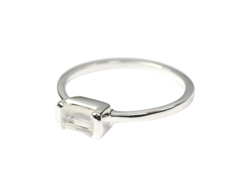 TINY BAGUETTE RING SILVER 6
