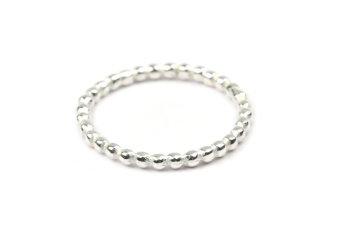 TINY DOTS RING SILVER