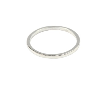 TINY PLAIN RING SILVER