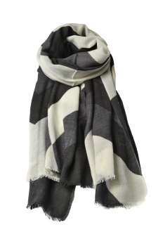 TRACE SCARF BLACK