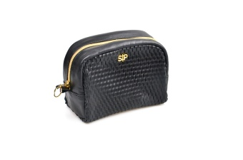HONEYCOMB MIDI TOILETRY BAG BLACK