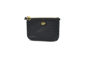 HONEYCOMB SMALL TOILETRY BAG BLACK