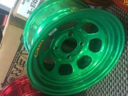 Grön Aero fälg