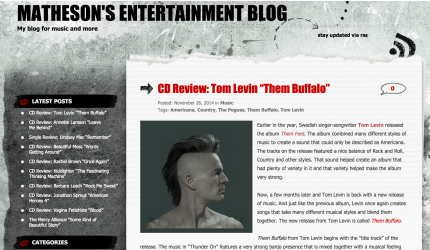 Review Them Buffalo, Tom Levin
