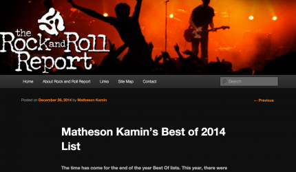 Tom Levin's Them Feet and Them Buffalo on the Best Of 2014 List