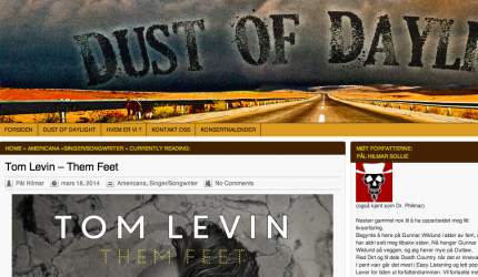 Tom Levin's Them Feet reviewed at Dust of Daylight