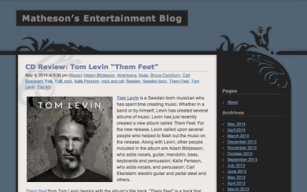 Matheson's Entertainment Blog