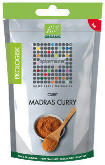 MADRAS CURRY, 21 G, PÅSE, EKOLOGISK