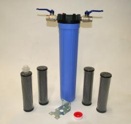 """Patronfilter Paket 1 st 20"""" filterhus, aktiv kolpatron"""