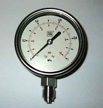 Manometer rostfri 0-10 bar Diam 63 mm