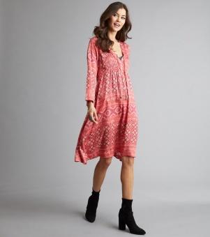 Odd molly warm hearted dress rasberry