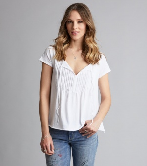 Jersey Girl S/S Top Bright White