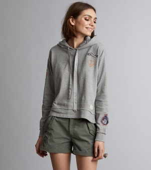 Honey Sweet Hoodie Light Grey Melange