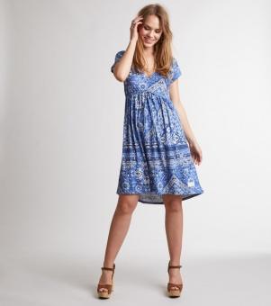 Odd Molly playful short dress Vintage blue