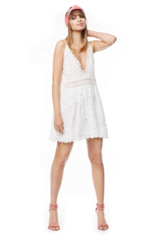 By Malina Issa Mini Dress White