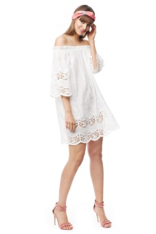 By Malina Bella Dress Cloudy White