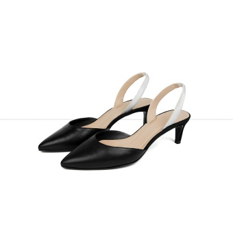 Flattered Emilia Black suede White nap