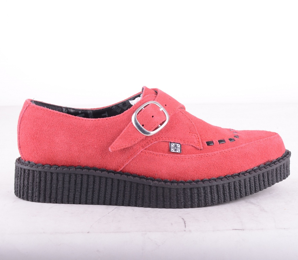 A8311 Red Pointed Suede Creeper