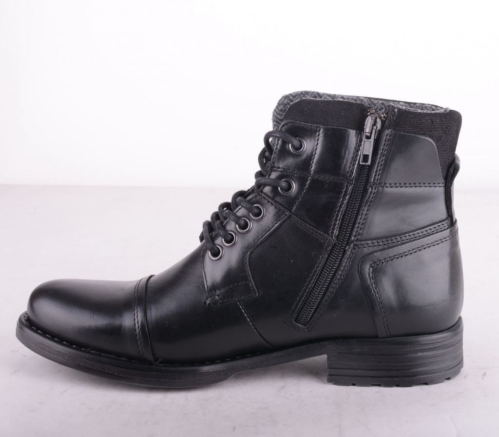 Black Lined Boot Zip