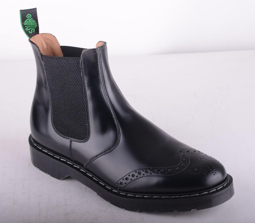 Dealer Boot Brogue Black