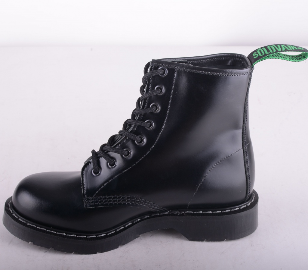 8 Eye Derby Boot Black 551