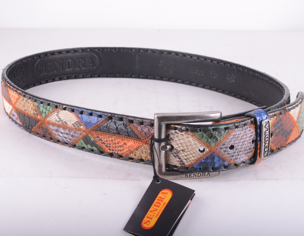 8565 Multi Color Python Belt