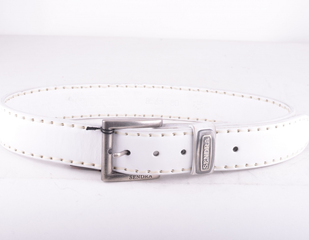 8563 White Bovino Belt
