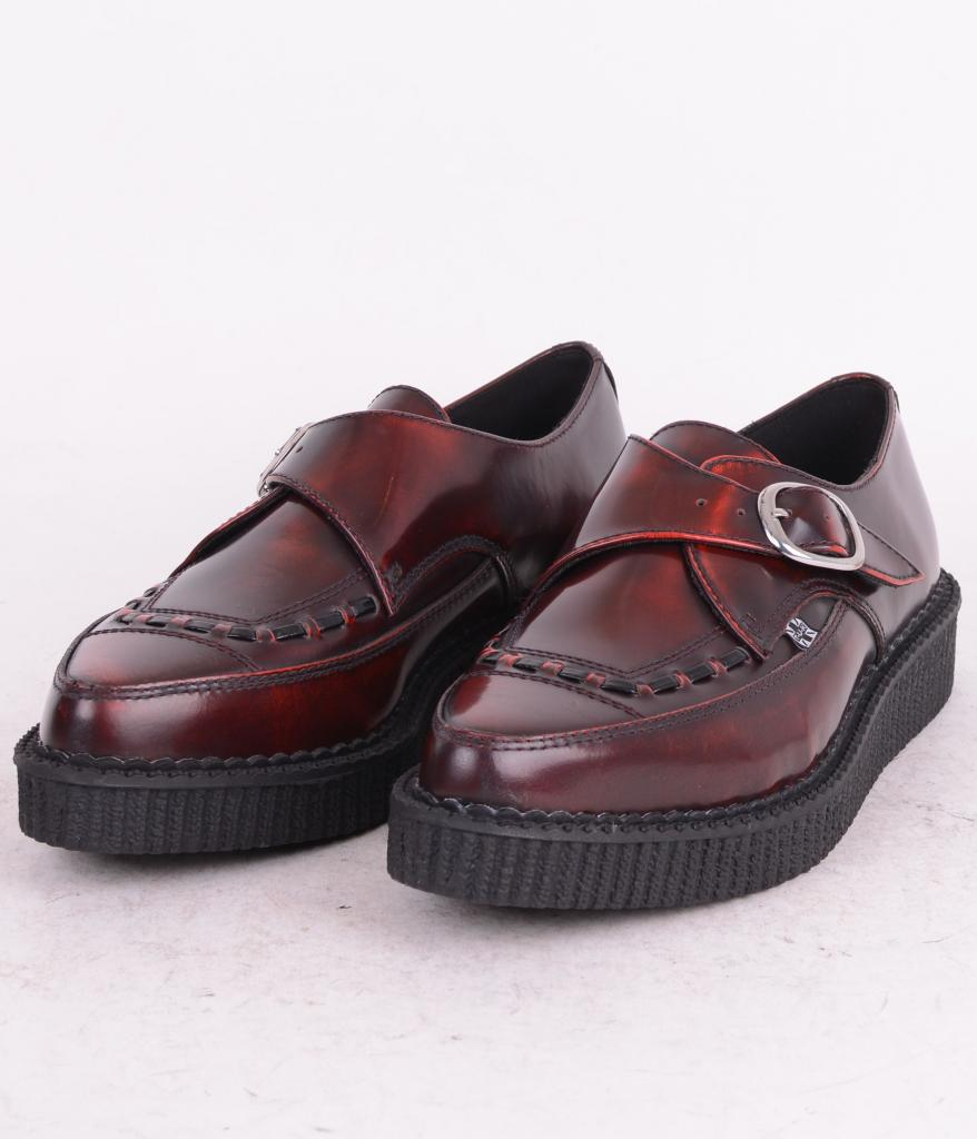 Monk Buckle Pointed Creeper Burgundy