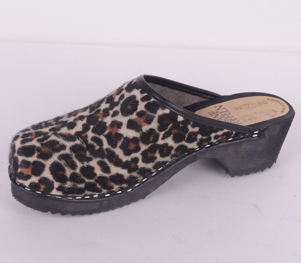 Leopard Träskor