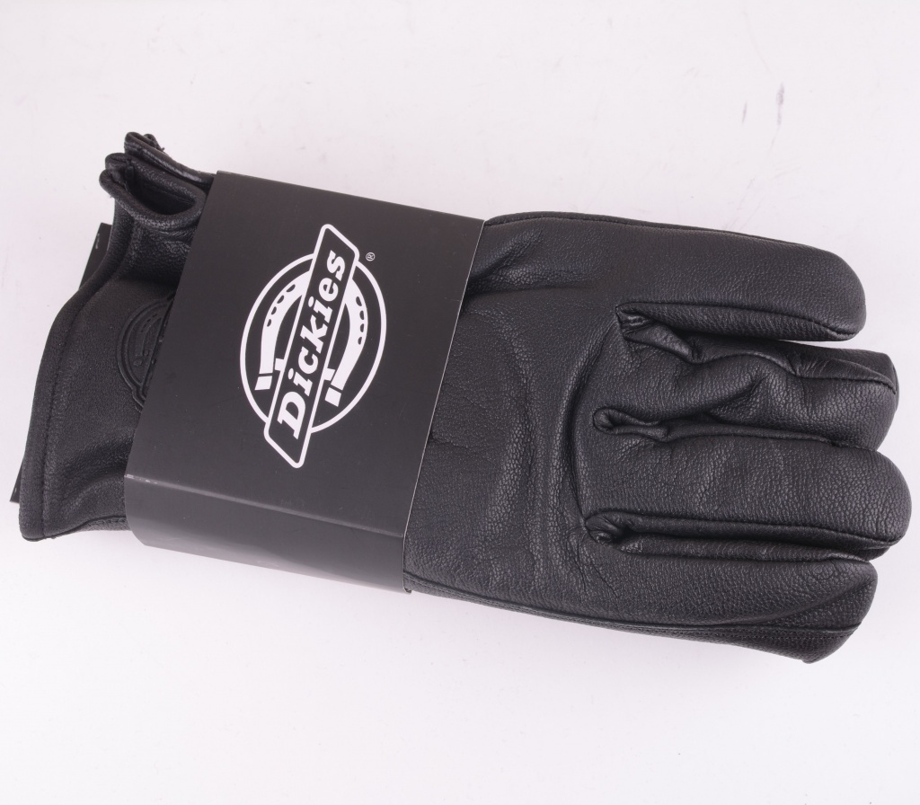 Lined Leather Gloves Black