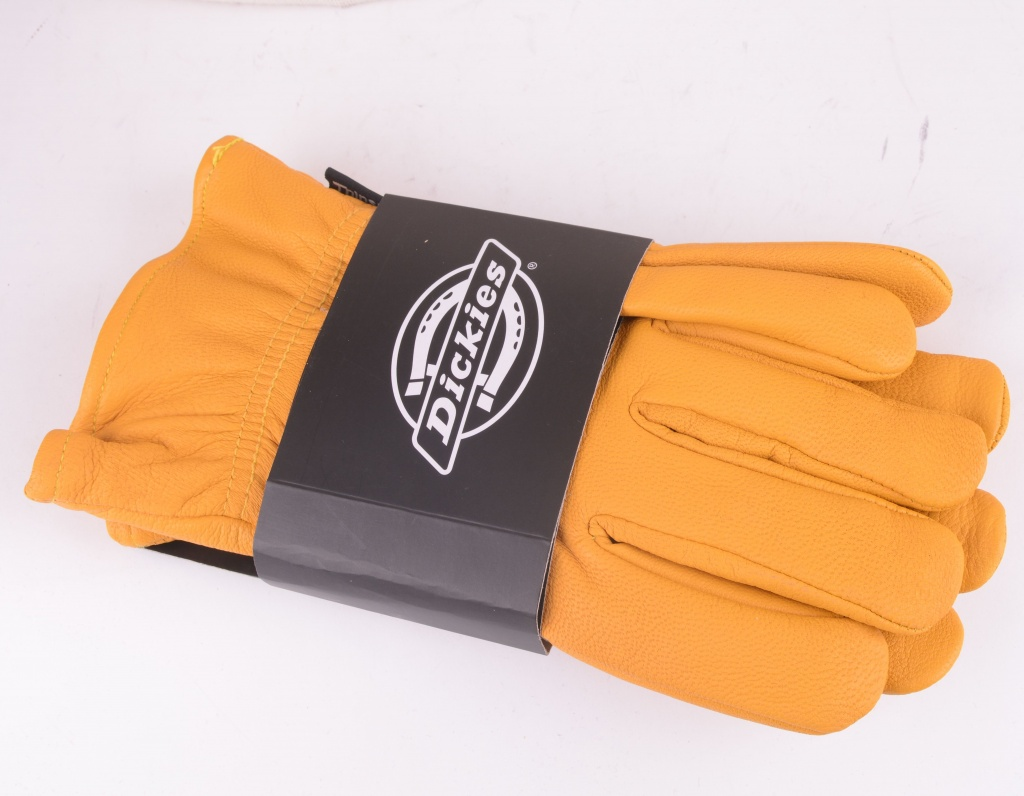 Lined Leather Gloves Tan