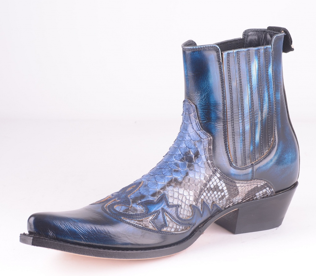 9396 Denver Blue White Python Boot