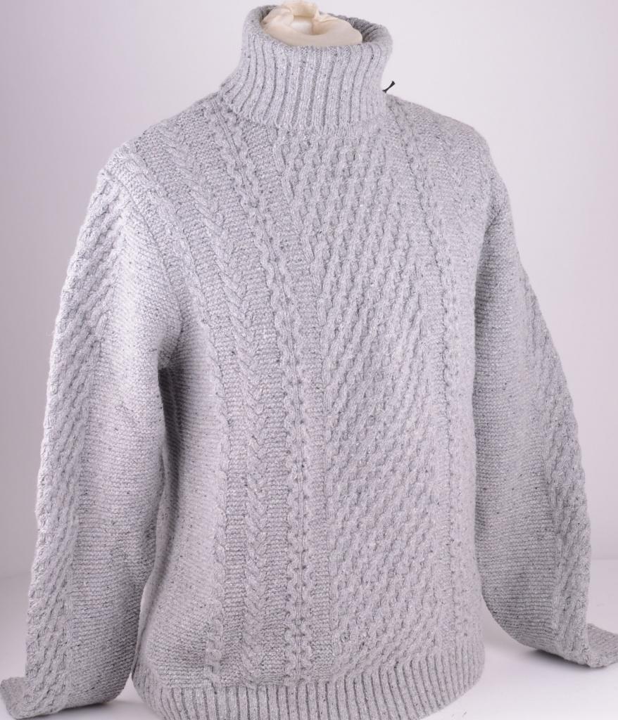 I022271 Rollneck Grey Wool