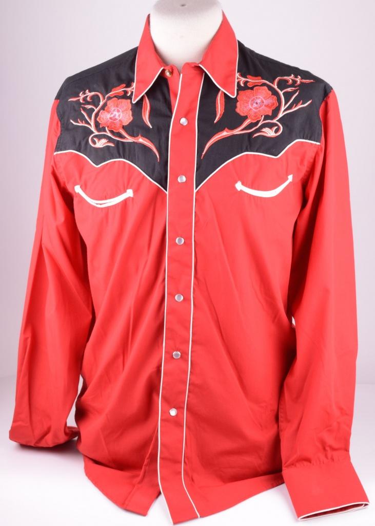 Western Skjorta Red