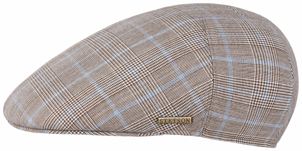 Driver Cap Wool Check Beige