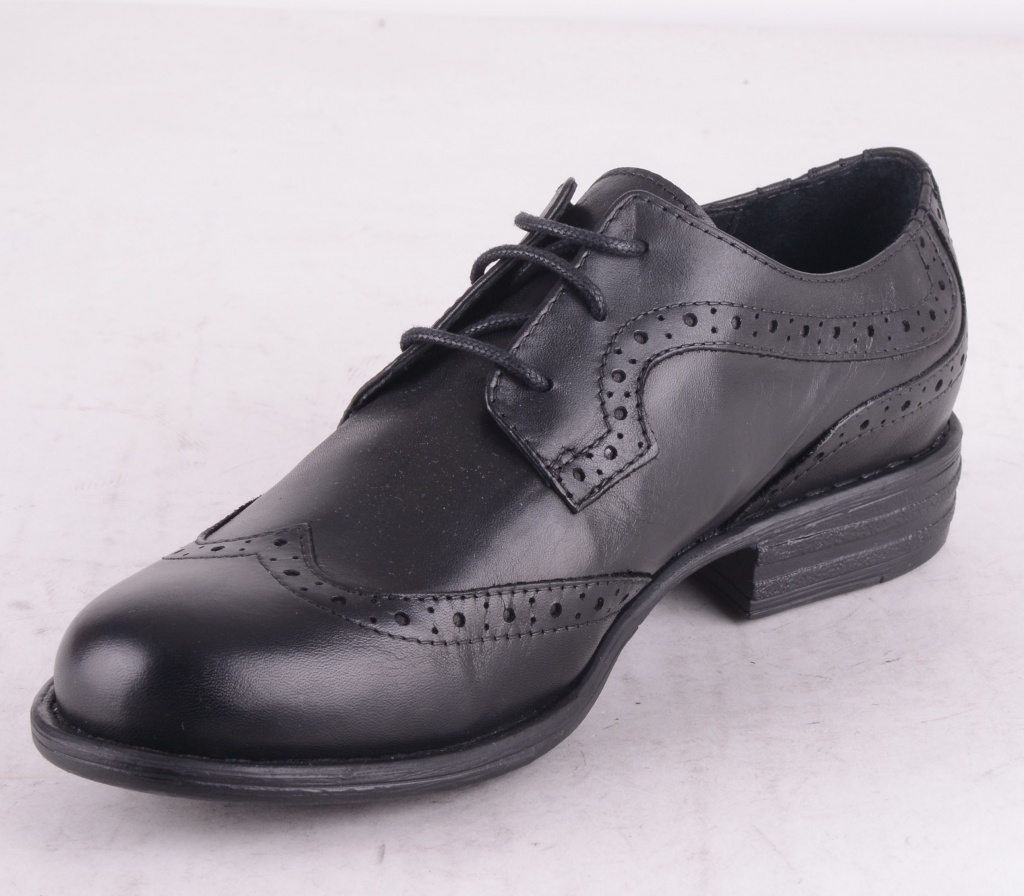 7176-101 Lace Shoe Brogue Black